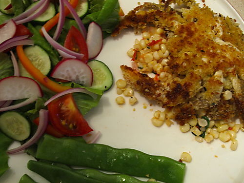 Panko crusted crab